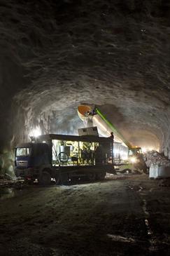 CityB servicetunnel norr Odenplan injektering i ventilationstunnel mot Vasa Real 120507